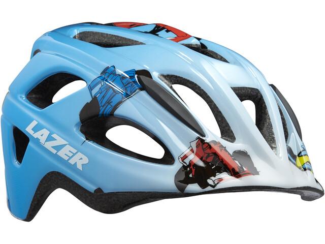 Lazer P'Nut Helmet with Insect Net Kids blue racer boy